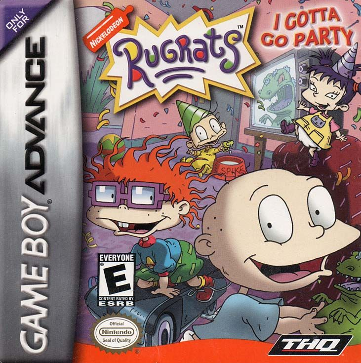 Rugrats: I Gotta Go Party Game Boy Advance Front Cover
