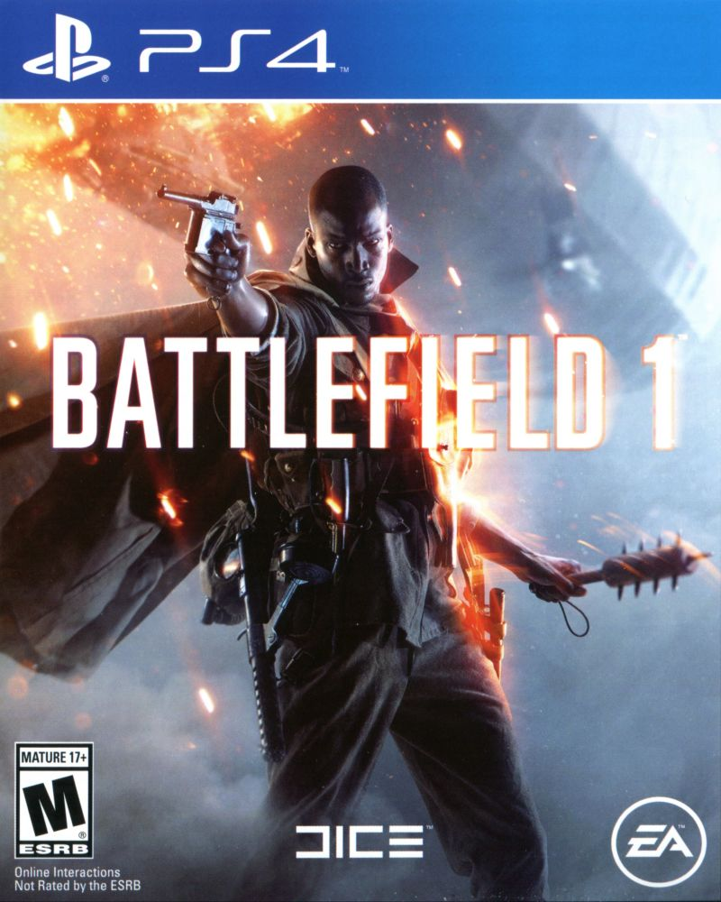Battlefield 1 (2016) PlayStation 4 box cover art - MobyGames