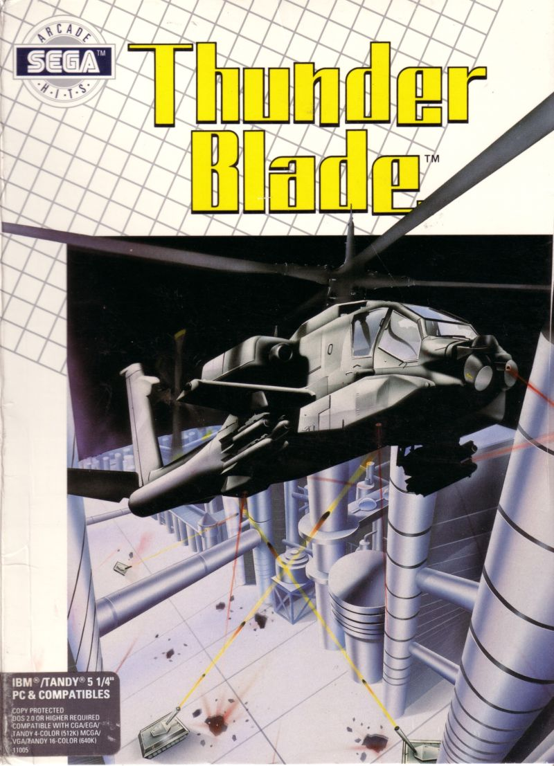 ThunderBlade DOS Front Cover