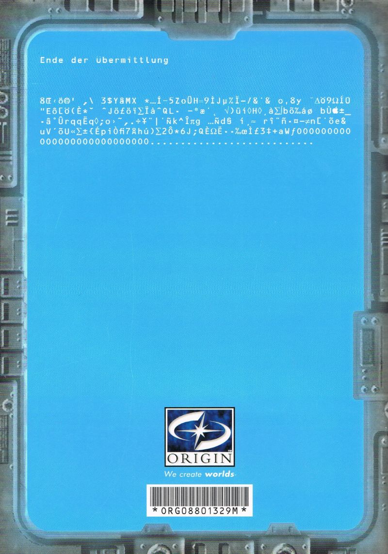 Wing Commander: Prophecy Windows Extras TCS Midway Integrated Combat Information System - Back