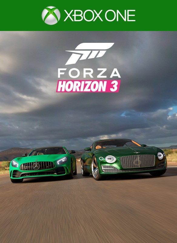 forza horizon 3 logitech g car pack 2016 xbox one box cover art mobygames. Black Bedroom Furniture Sets. Home Design Ideas