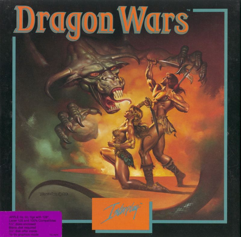 Dragon Wars Apple II Front Cover