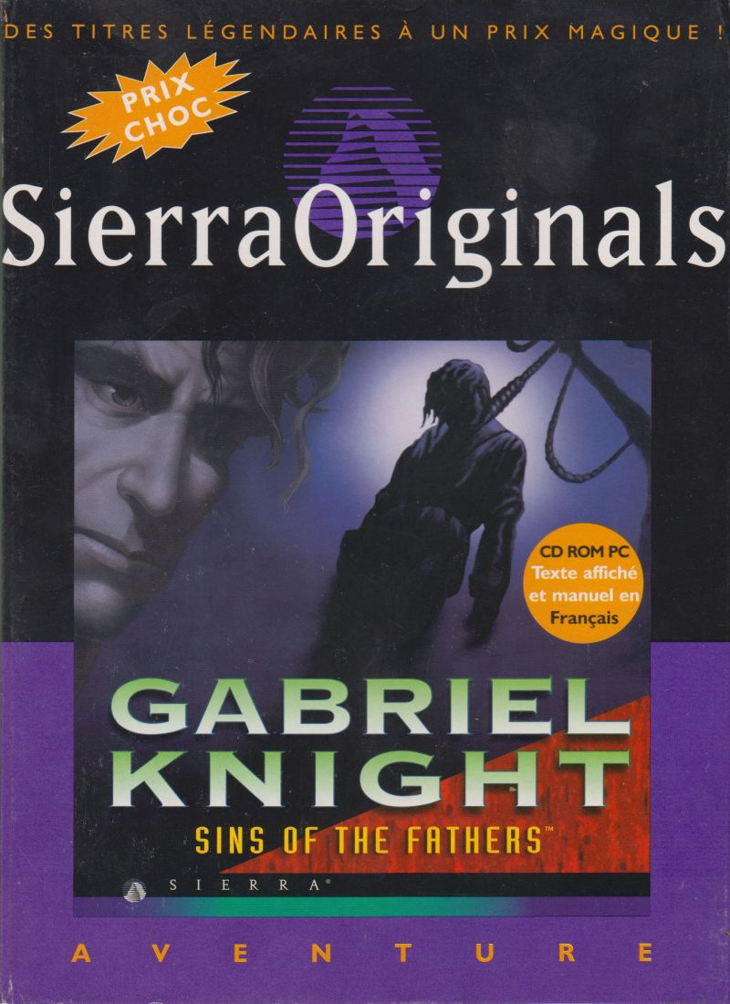 Gabriel Knight: Sins of the Fathers DOS Front Cover