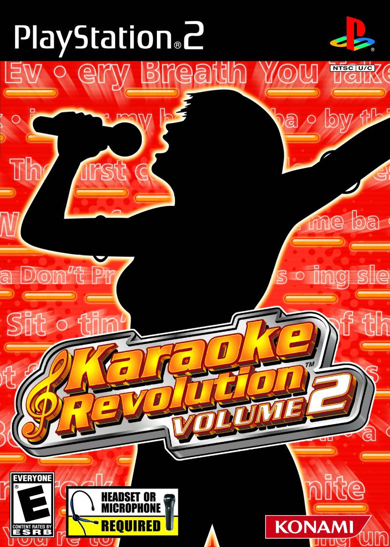 Karaoke Revolution Volume 2 PlayStation 2 Front Cover