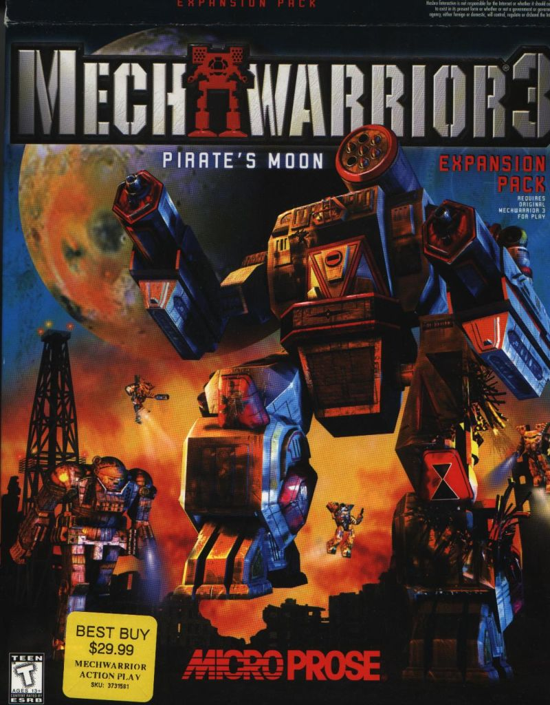 MechWarrior 3: Pirate's Moon (1999) Windows box cover art