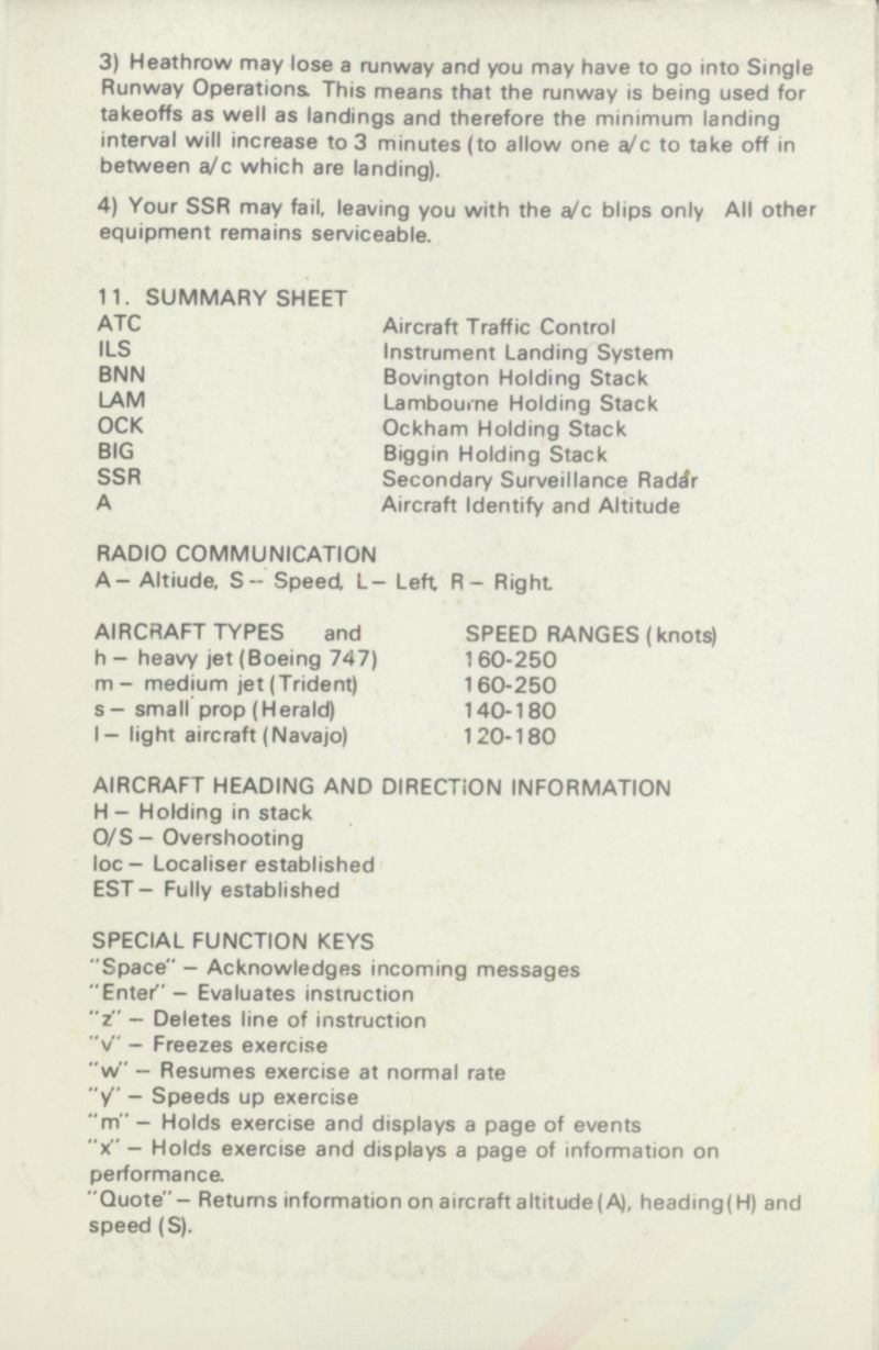 Heathrow International Air Traffic Control (1984) Amstrad ...