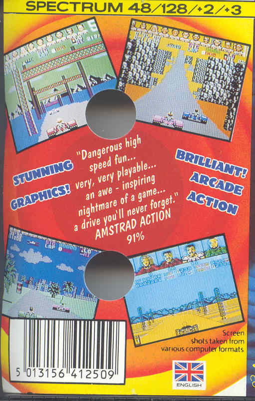 Power Drift ZX Spectrum Back Cover