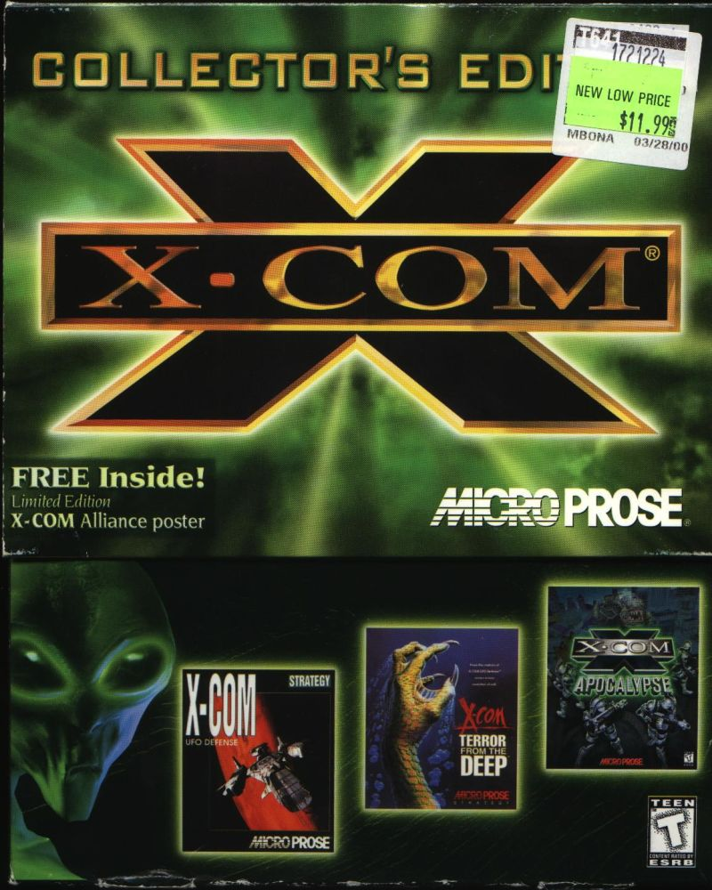 X-COM: Collector's Edition DOS Front Cover