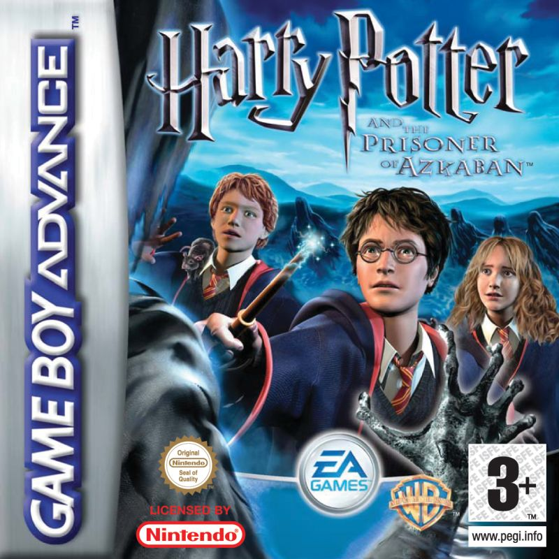 Harry Potter and the Prisoner of Azkaban Game Boy Advance Front Cover