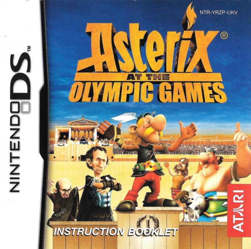 asterix at the olympic games 2007 nintendo ds box cover art rh mobygames com Best Nintendo DS Games nintendo ds game manual scans
