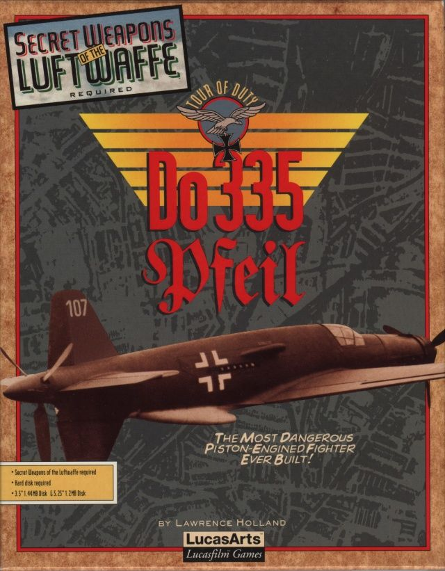 Do 335 Pfeil Tour of Duty DOS Front Cover