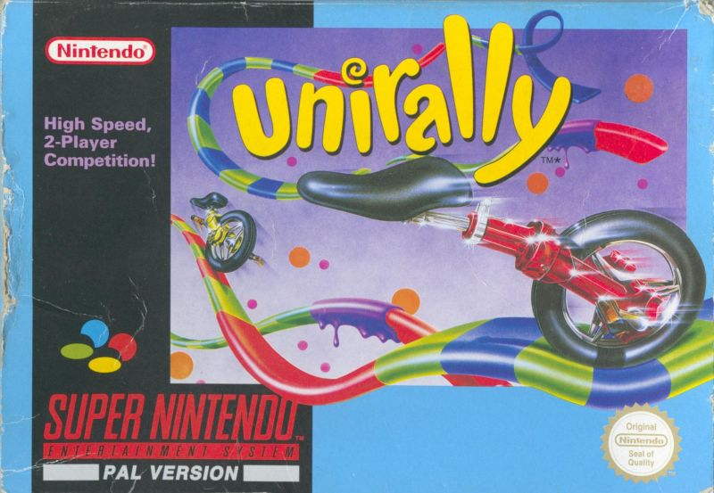 Uniracers SNES Front Cover