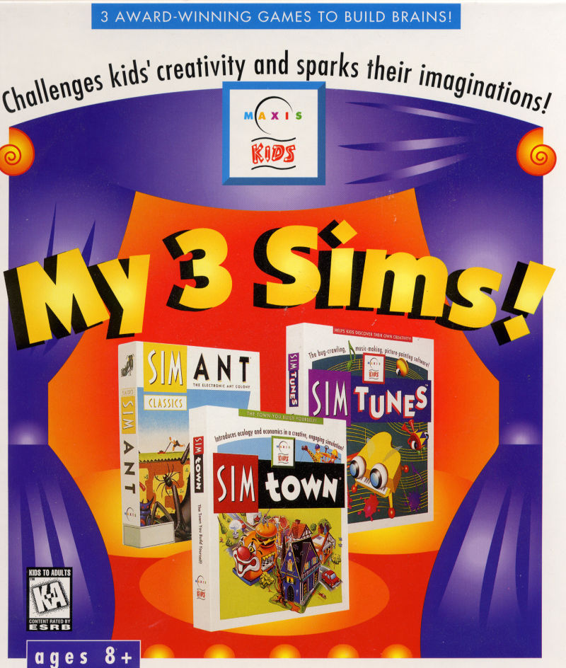 My 3 Sims! Windows Front Cover