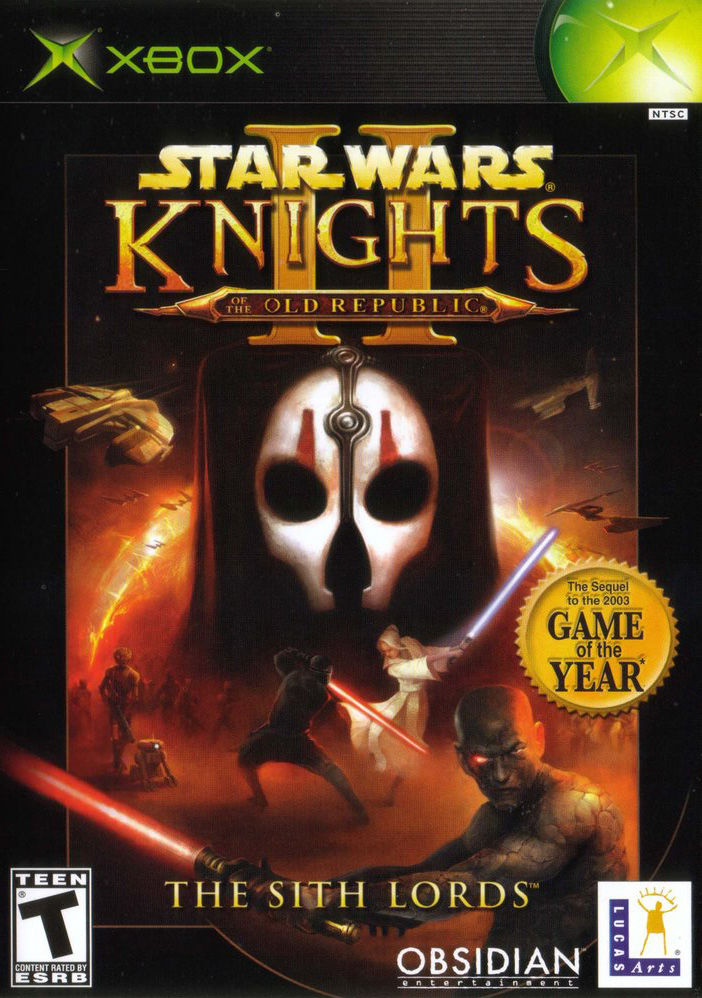 Star Wars: Knights of the Old Republic II - The Sith Lords Xbox Front Cover