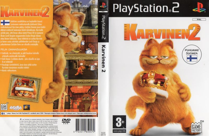 Garfield A Tail Of Two Kitties 2006 Playstation 2 Box Cover Art Mobygames