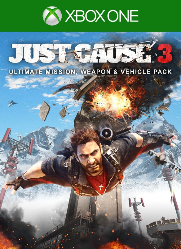 Just Cause 3: Ultimate Mission, Weapon and Vehicle Pack Xbox One Front Cover