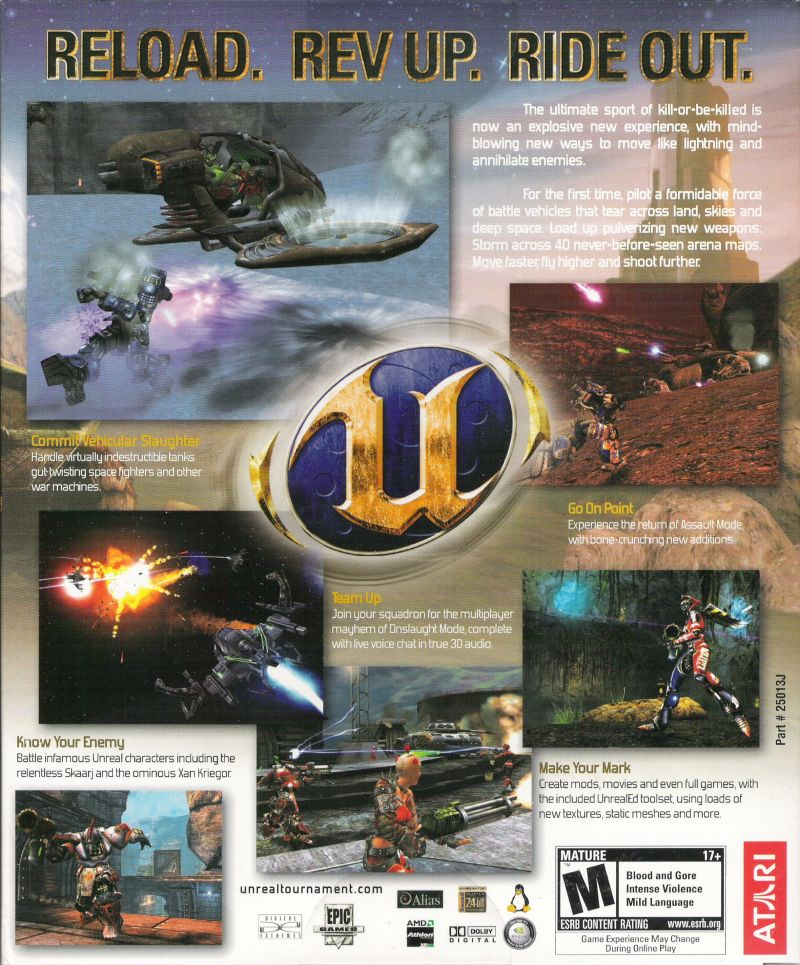 Unreal Tournament 2004 Linux Back Cover