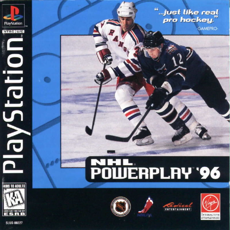 NHL Powerplay '96 PlayStation Front Cover