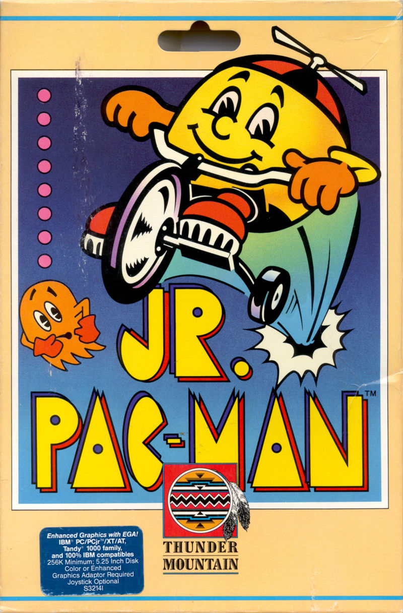 Jr. Pac-Man DOS Front Cover