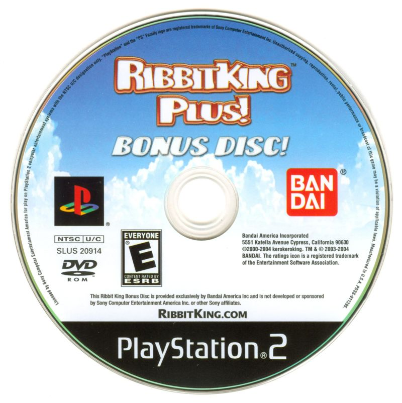 Ribbit King PlayStation 2 Media Bonus Disc