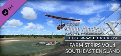 Microsoft Flight Simulator X: Steam Edition - Farm Strips Vol 1 SouthEast England Windows Front Cover