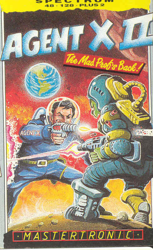 Agent X II: The Mad Prof's Back! ZX Spectrum Front Cover