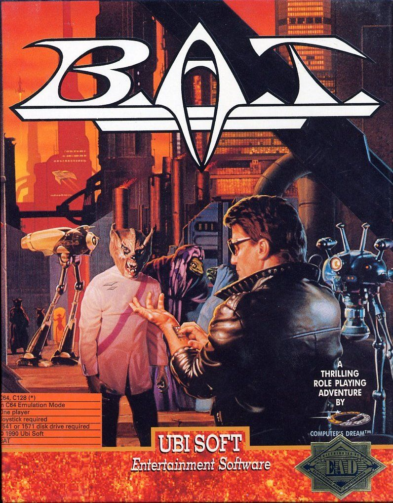B.A.T. Commodore 64 Front Cover