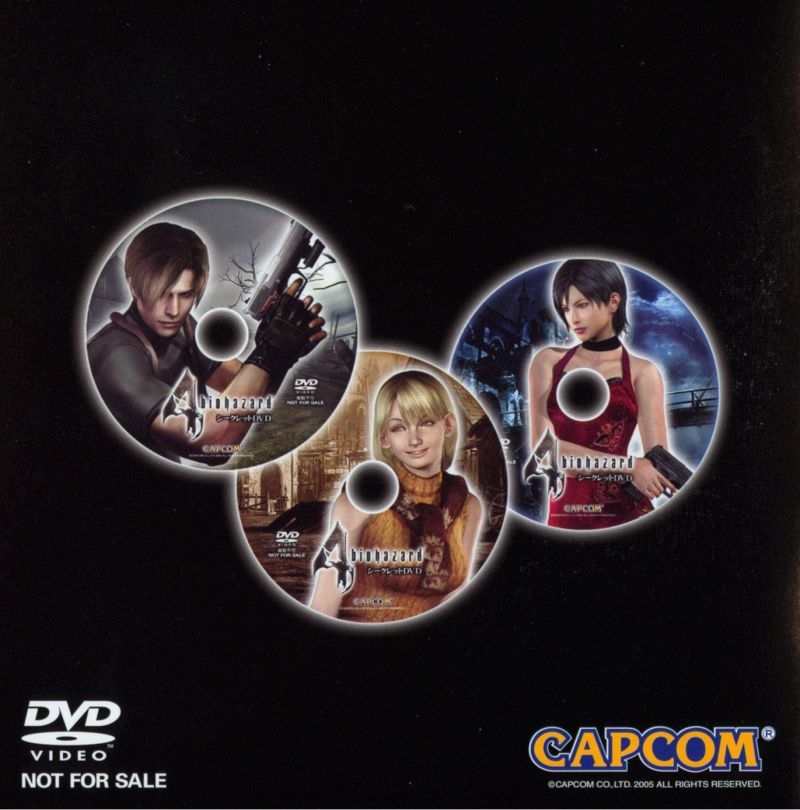 Resident Evil 4 GameCube Extras Making Of - Jewel Case - Left Inlay
