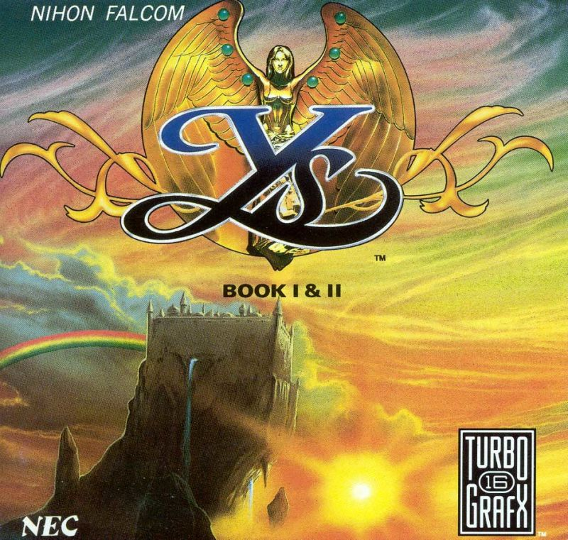 Ys: Book I & II TurboGrafx CD Front Cover