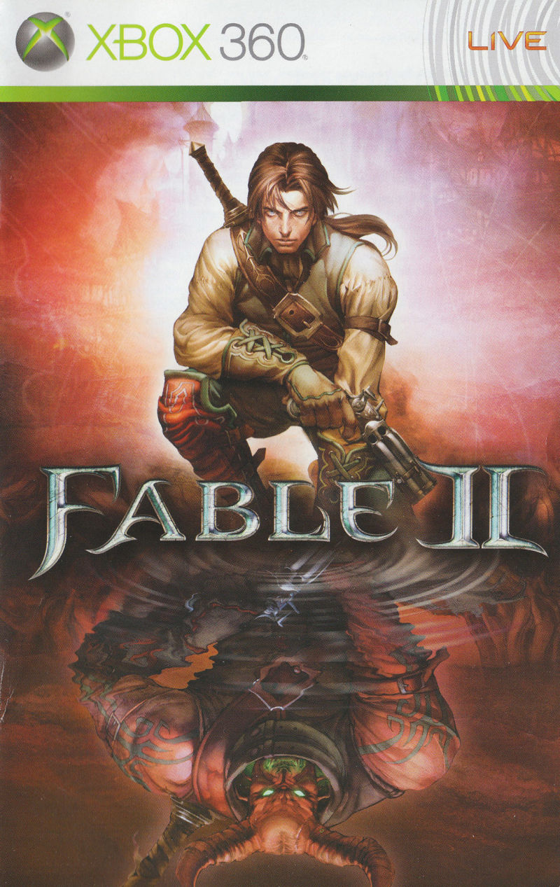 Fable II Xbox 360 Manual Front