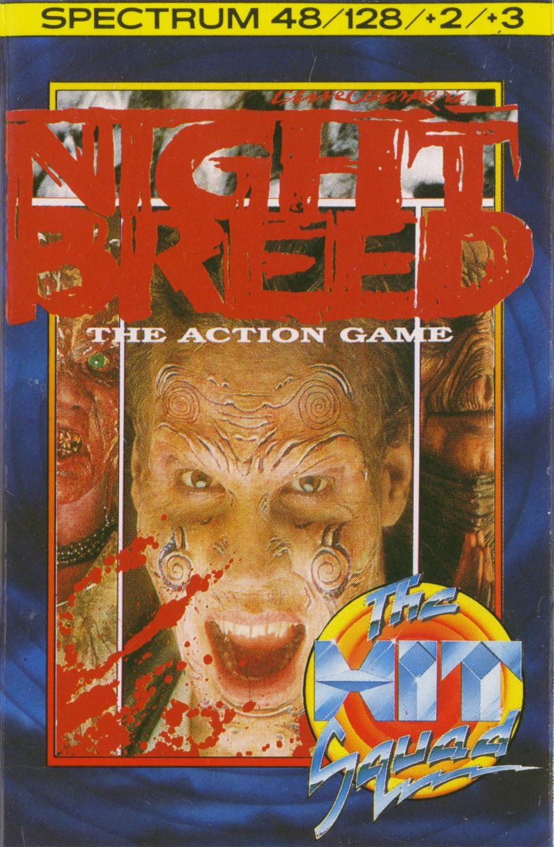 Clive Barker's Nightbreed:  The Action Game ZX Spectrum Front Cover