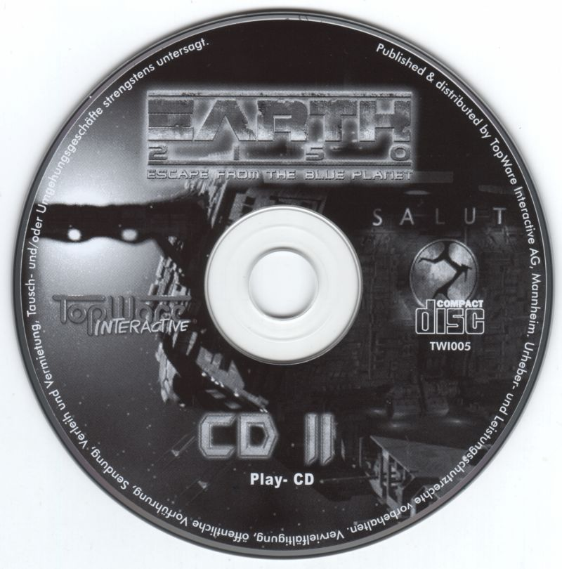 Earth 2150 Windows Media Play CD