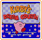 Kirby's Dream Course New Nintendo 3DS Front Cover