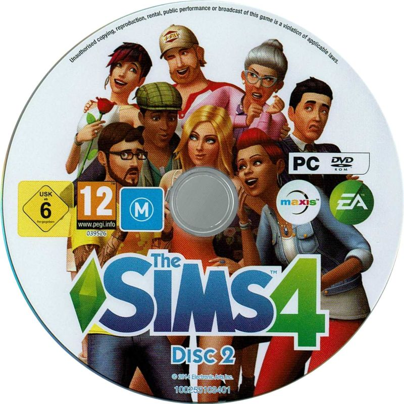 sims 4 pc disk