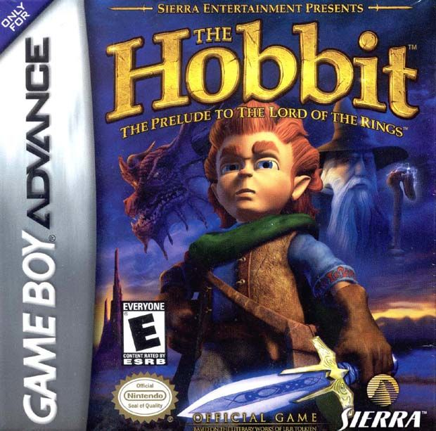 The Hobbit Game Boy Advance Front Cover