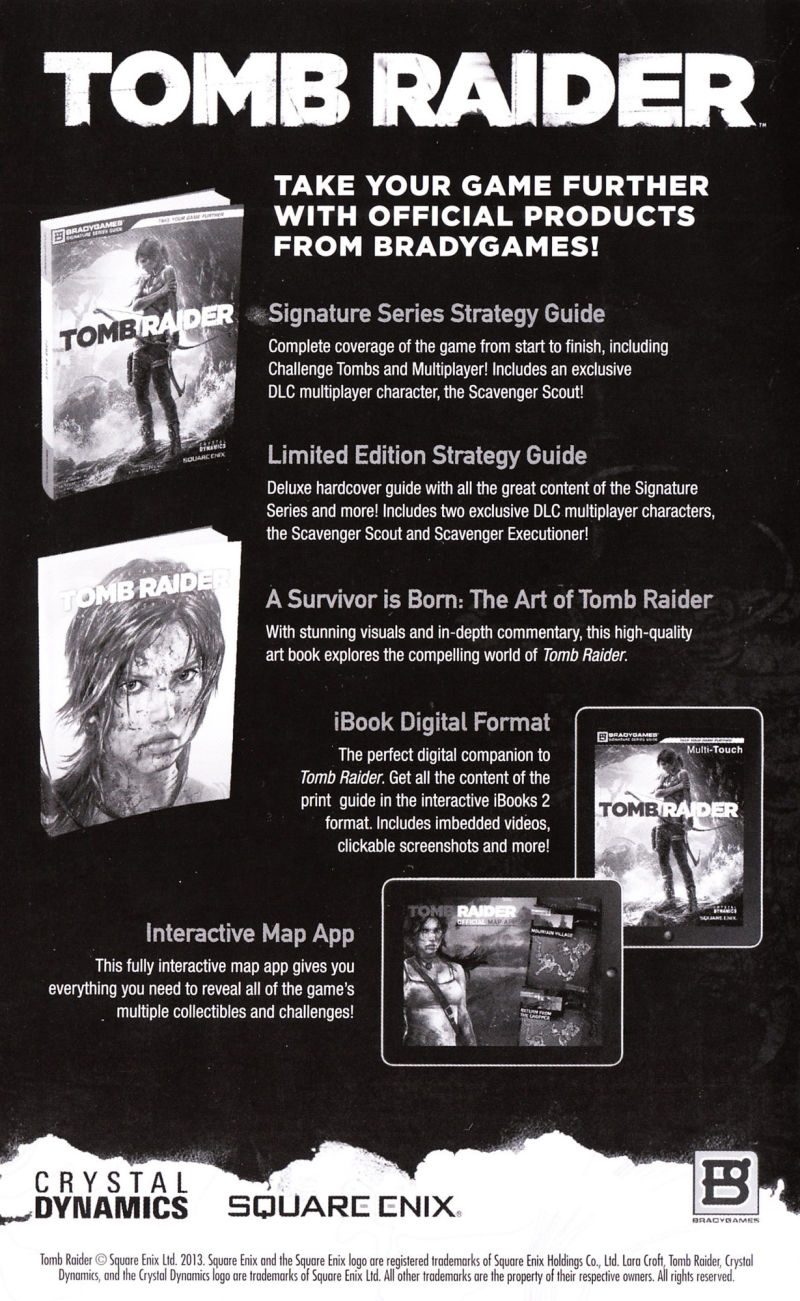 Tomb Raider: Game of the Year Edition Xbox 360 Manual English - Back