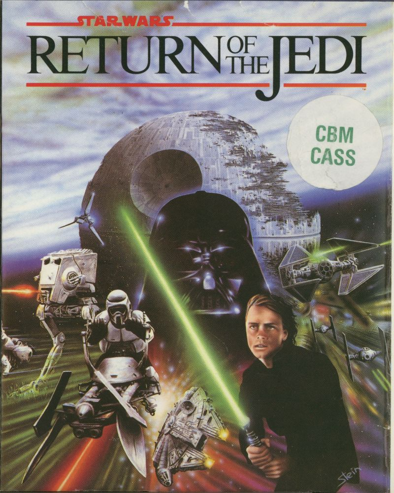 star wars return of the jedi 1988 commodore 64 box cover art