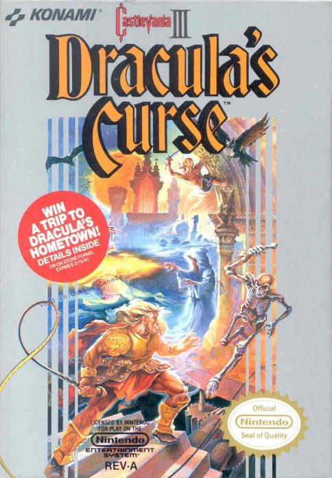 Castlevania III: Dracula's Curse  NES Front Cover