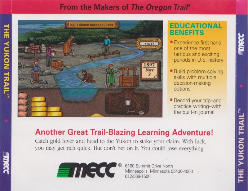 The Yukon Trail Macintosh Other Jewel Case - Full Back Cover