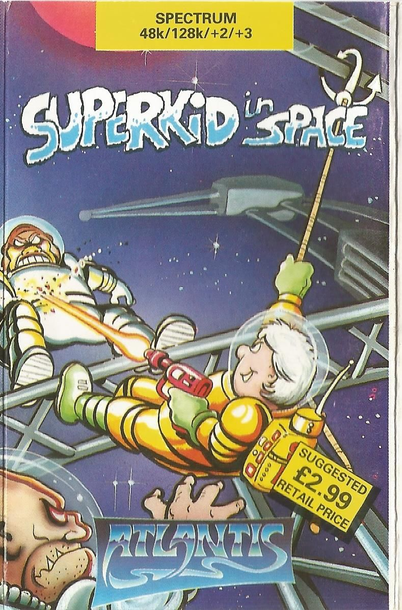 Superkid in Space (1991) Amstrad CPC box cover art - MobyGames