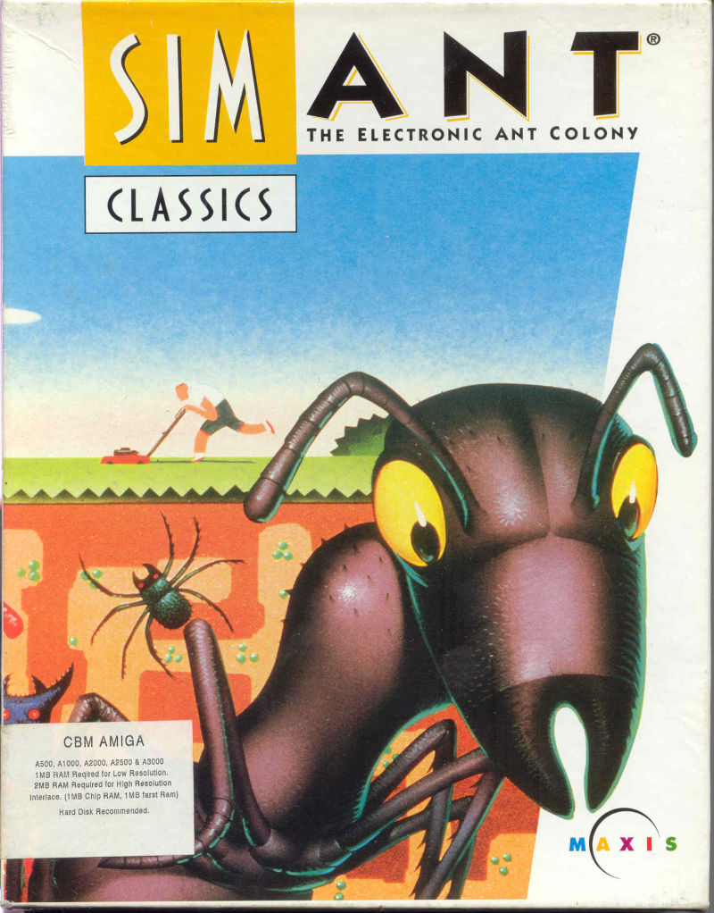 SimAnt: The Electronic Ant Colony Amiga Front Cover