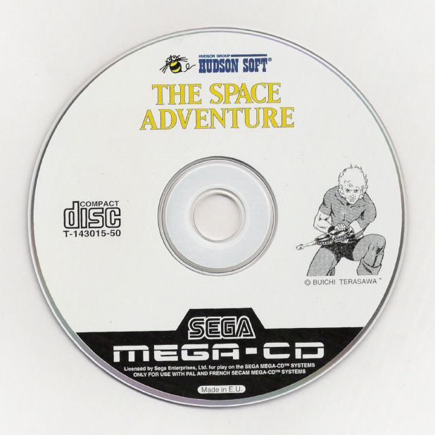 The Space Adventure SEGA CD Media