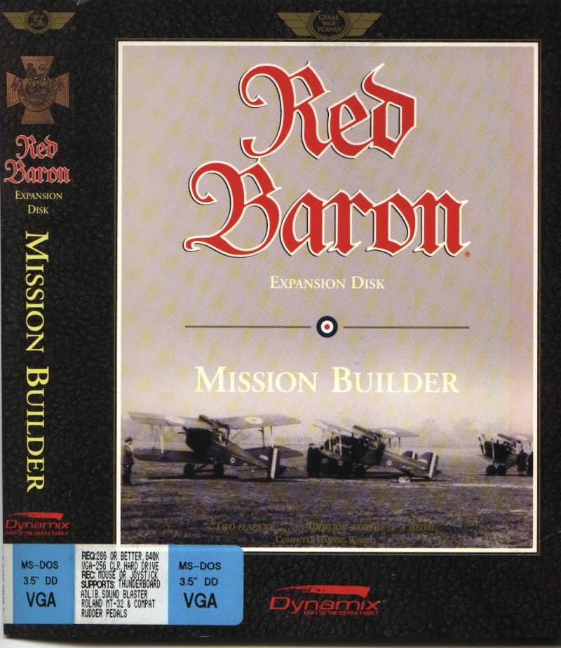 Red Baron: Mission Builder DOS Front Cover