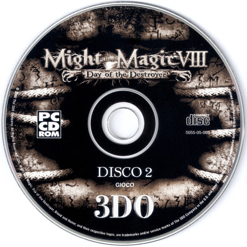 Might and Magic VIII: Day of the Destroyer Windows Media Disc 2 - Game