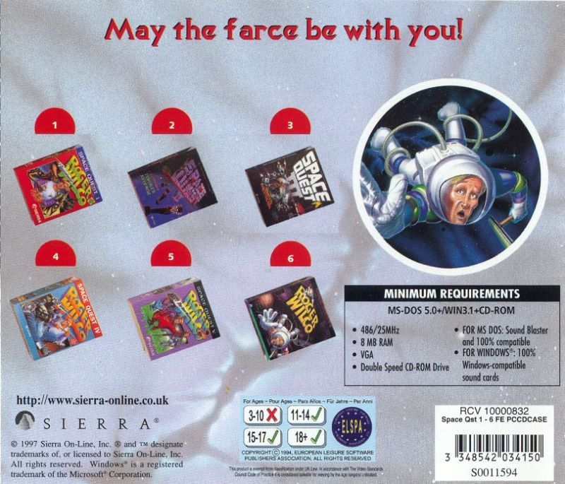 Space Quest: Collection Series DOS Other Jewel Case - Back