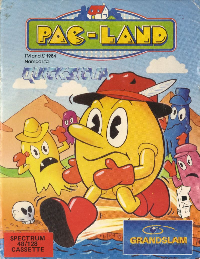 Pac-Land ZX Spectrum Front Cover