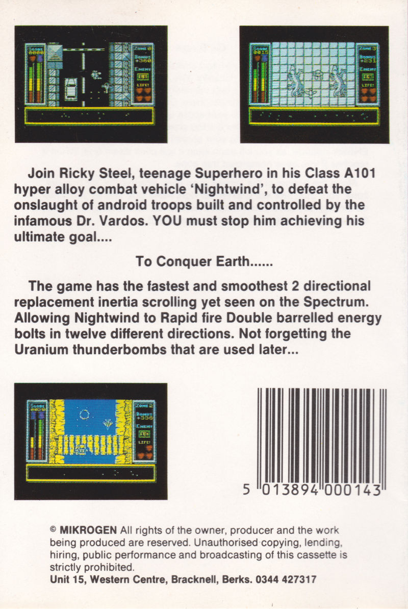 Stainless Steel ZX Spectrum Back Cover
