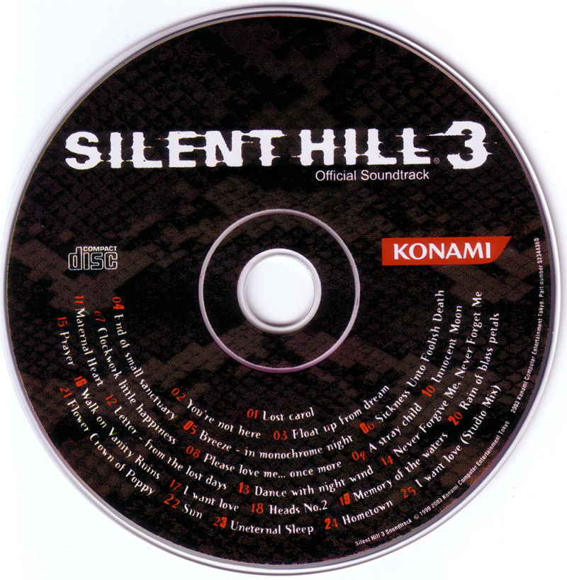 Silent Hill 3 Windows Media Soundtrack Disc