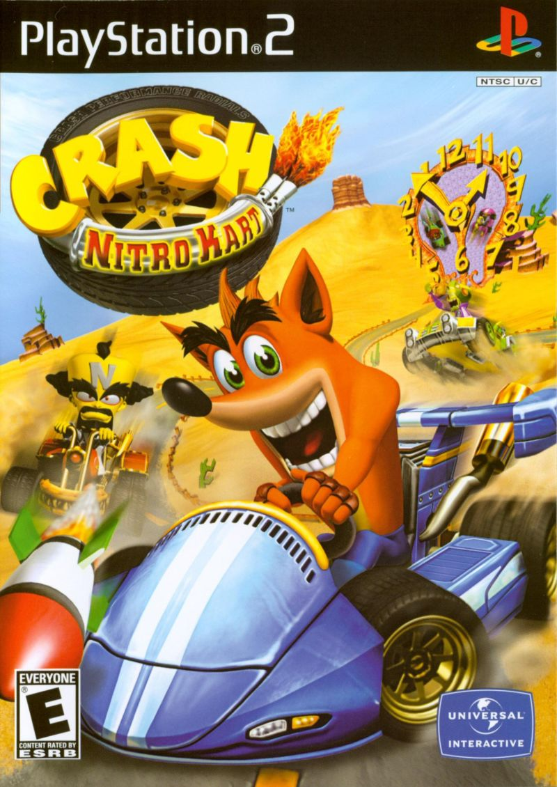 Crash Nitro Kart PlayStation 2 Front Cover