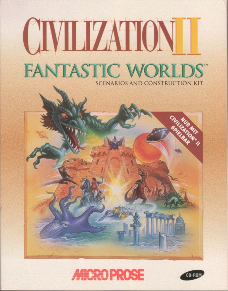 Civilization II: Fantastic Worlds Windows Front Cover